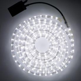 10m LED pás studený biely vodotesný guľatý
