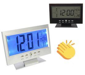 Multifunkčné hodiny s podsvietením, meteostanicou a senzorom pohybu