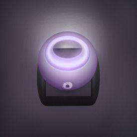 Štýlové nočné svetlo so stmievacím senzorom - fialové