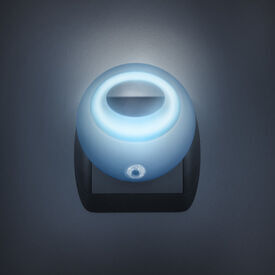 Štýlové nočné svetlo so stmievacím senzorom - modré