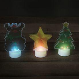 Vianočné LED figúrky meniace farby