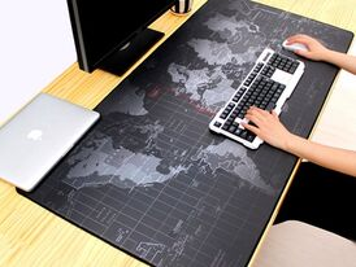 Protišmyková podložka pod myš a klávesnicu Mapa sveta XXL