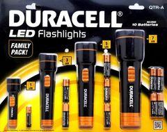 4 ks sada značkových svietidiel Duracell