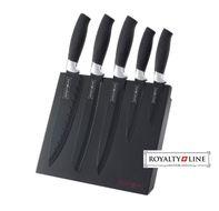 5-dielna sada antiadhéznych nožov s magnetickým stojanom BLACK