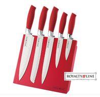 5-dielna sada antiadhéznych nožov s magnetickým stojanom RED