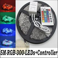 5m nalepovací vodotesný LED pás-Multicolor s príslušenstvom