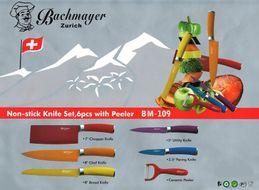6-dielna sada farebných nožov s antiadhéznym povrchom Bachmayer Zurich