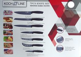 7-dielna sada nožov s antiadhéznym povrchom Koch Line