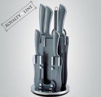 8-dielna sada kamenných nožov so stojanom Royalty Line Silver