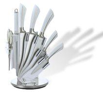 8-dielna sada nerezových nožov so stojanom Royalty Line white