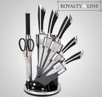 8-dielna sada nerezových nožov so stojanom Royalty Line black