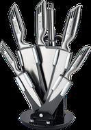 8-dielna sada nerezových nožov so stojanom Royalty Line RL-KSS808