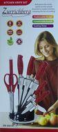 Zurrichberg 8-dielna sada nerezových nožov so stojanom červená ZB-5001R