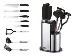 9-dielna sada nerezových nožov a kuchynského náradia Peterhof