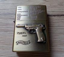 Benzínový zapaľovač Pištoľ Walther 1