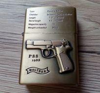 Benzínový zapaľovač Pištoľ Walther 3