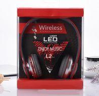 Bezdrôtové LED slúchadlá s mikrofónom L2 series