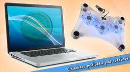 Chladiaca podložka pod notebook s modrým podsvietením