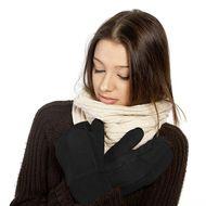 Elegantné zateplené palčiaky čierne