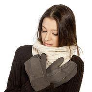 Elegantné zateplené palčiaky šedé