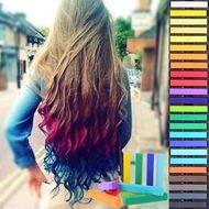 Farebné kriedy na vlasy 36 ks Hair chalk