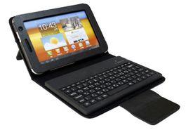 """Kožené púzdro s Bluetooth klávesnicou pre 7"""" tablety"""