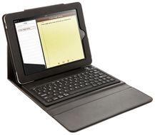 Kožené púzdro s Bluetooth klávesnicou pre iPad