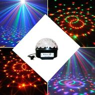 LED disco guľa mp3 s reproduktormi a diaľkovým ovládaním