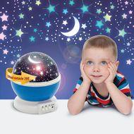 LED mini projektor hviezdna obloha - modrá