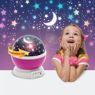 LED mini projektor hviezdna obloha - ružová
