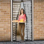 Magnetická sieťka na dvere 210 cm s písmenami