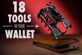 Multifunkčný nástroj Wallet Ninja 18v1