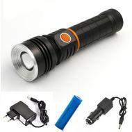 Nabíjateľná baterka s CREE+COB čipmi a magnetom
