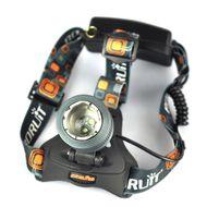 Nabíjateľná čelová baterka so zoomom a dvomi LED čipmi