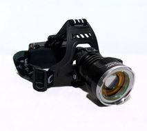 TMN Nabíjateľná čelová baterka so zoomom a super svietivosťou