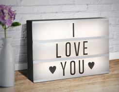 Podsvietený LED panel s 85 písmenami a symbolmi