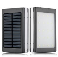 Power bank externá nabíjačka so solárnym panelom a LED svetlom 30 000 mAh