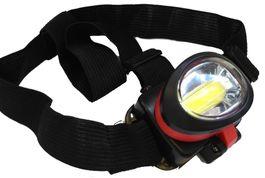 Praktická čelová baterka so silným COB svetlom