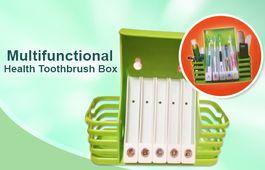 Praktický držiak na zubné kefky a hygienické potreby