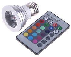 RGB 3W LED ŽIAROVKA s diaľkovým ovládaním