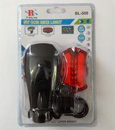 Svetlá na bicykel 5W COB LED - set