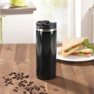 Termo-pohár na prípravu a pitie kávy 2v1