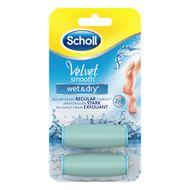 Scholl Velvet Smooth Wet&Dry náhradné hlavice medium 2ks