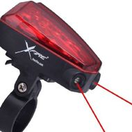 Zadné LED svetlo na bicykel s laserom