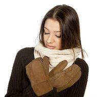 Elegantné zateplené palčiaky bledohnedé