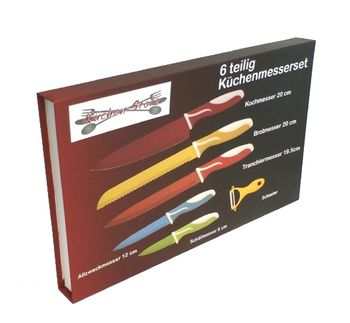 6-dielna sada farebných nožov s antiadhéznym povrchom Küchen Stolz