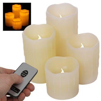 Adventné LED sviečky z pravého vosku s diaľkovým ovládaním