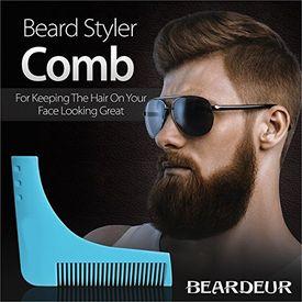 Beard Shaper hrebeň v tvare L pre symetrické tvarovanie a úpravu fúzov