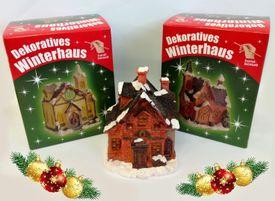 Čarovný vianočný domček s osvetlením