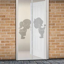 Magnetická sieťka na dvere 210 cm chlapec + dievča